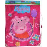Girl's Pink Peppa Pig Shoe, Swim & Gym Drawstring Bag