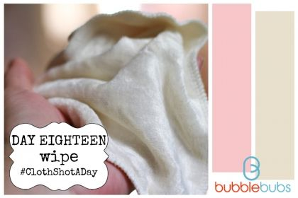 Cloth Shot a Day - Day 18 - Wipe  #clothnappies #clothshotaday #getintocloth