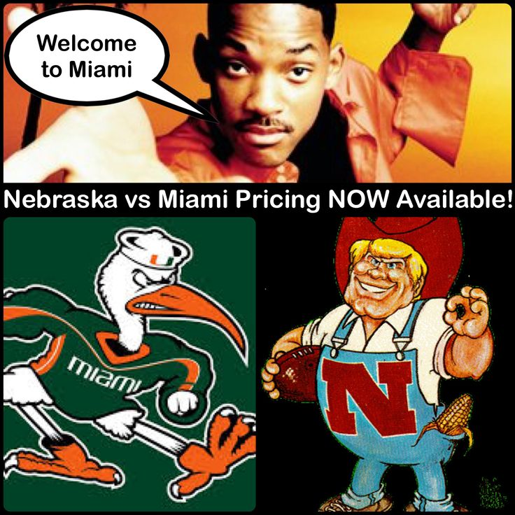 """""""Bienvenido a Miami."""" TicketExpress.com now has pricing up for one of the HOTTEST road games of the 2015 season! Book your flight & hotel, pack your bags and don't forget to order your seats for the Nebraska vs. Miami game on Saturday, September 19 at TicketExpress.com!"""