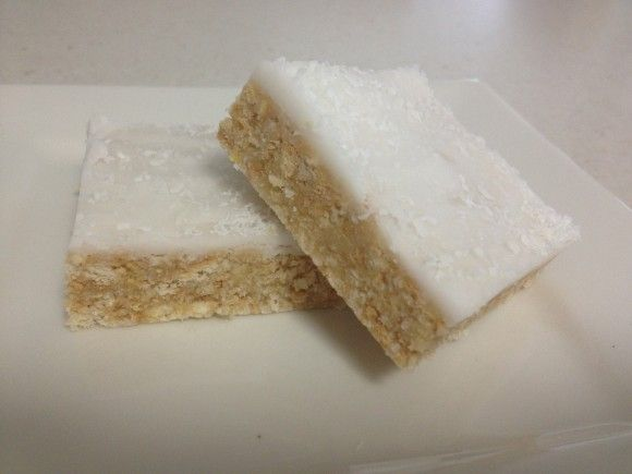 A classic version of the Best Ever Lemon Coconut Slice - and it
