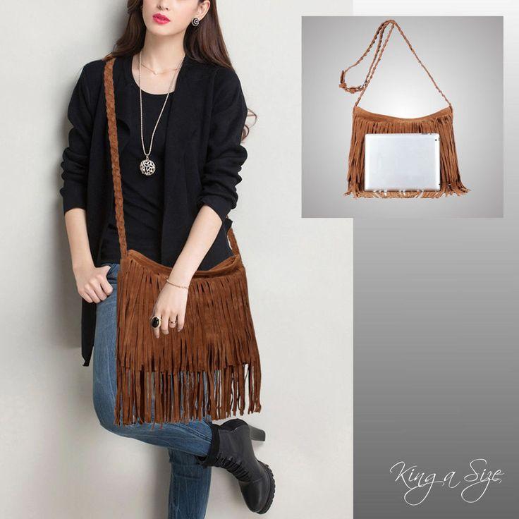 BAG Tasche ** Schultertasche / Tragetasche / Handtasche Wildleder-Look FRANSEN