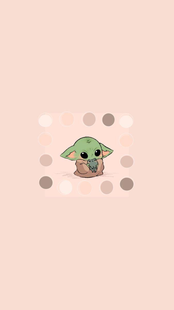B A B Y Y O D A W A L L P A P E R Yoda Wallpaper Cute Cartoon Wallpapers Yoda Sticker