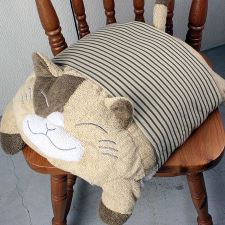 cat pillow! I want to do one but like Stampy. :) More