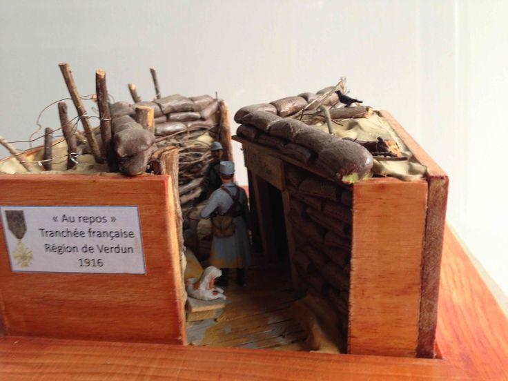 tranch e fran aise 1916 figurines 14 18 pinterest foss et maquettes. Black Bedroom Furniture Sets. Home Design Ideas
