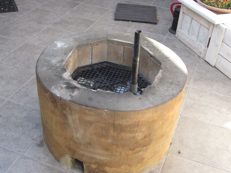 Fire pit for the courtyard