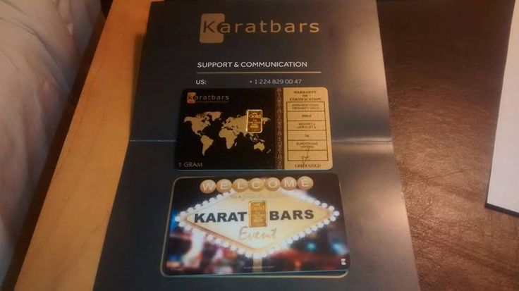 http://karatbarscard.com/ - Special gold card for the Las Vegas event