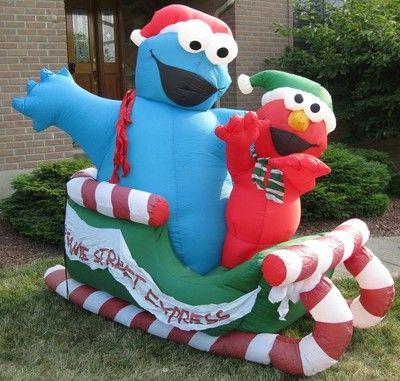 Sesame Street Inflatable Elmo Amp Cookie Monster 6 Feet