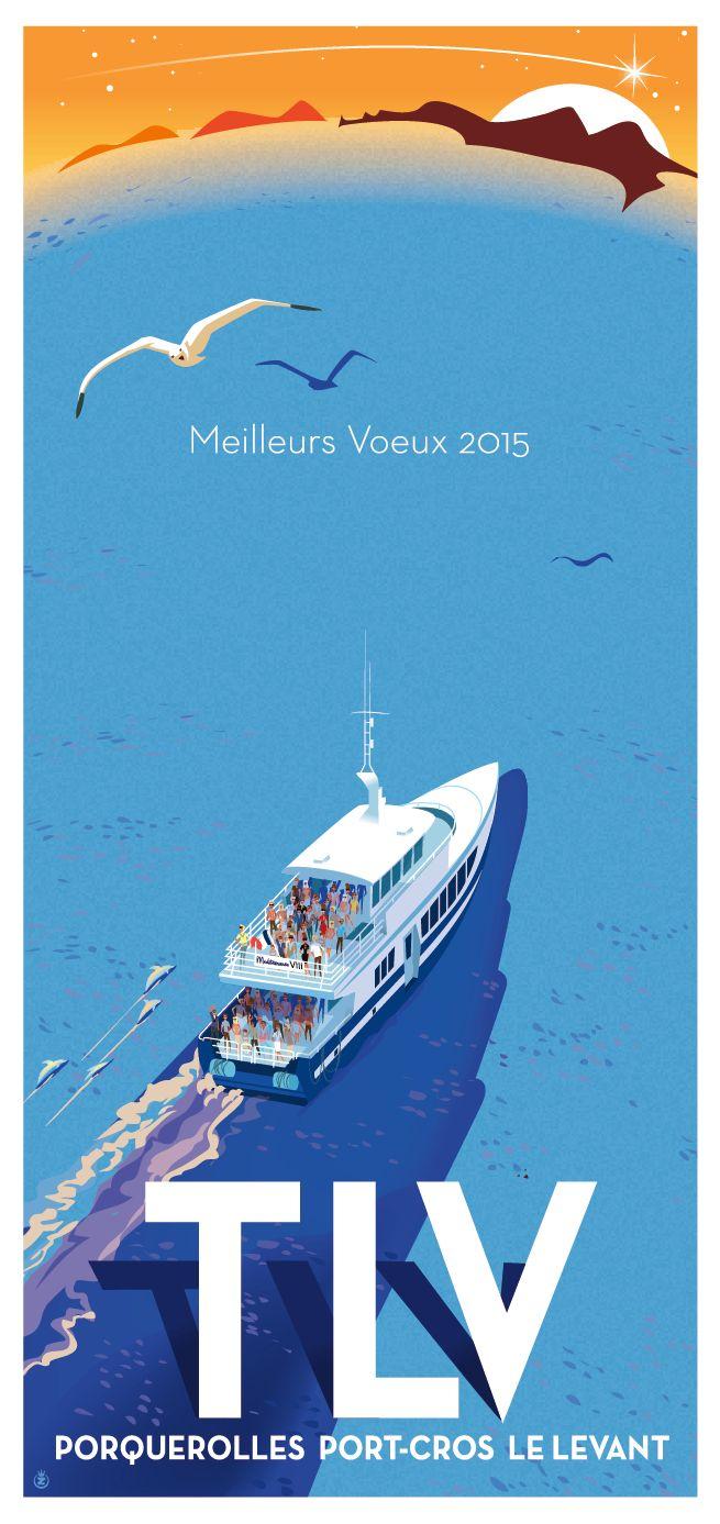 Hyéres-Porquerolles-Port Cros-Ile le Levant-TLV-Meilleurs Voeux 2015- Richard Zielenkiewicz