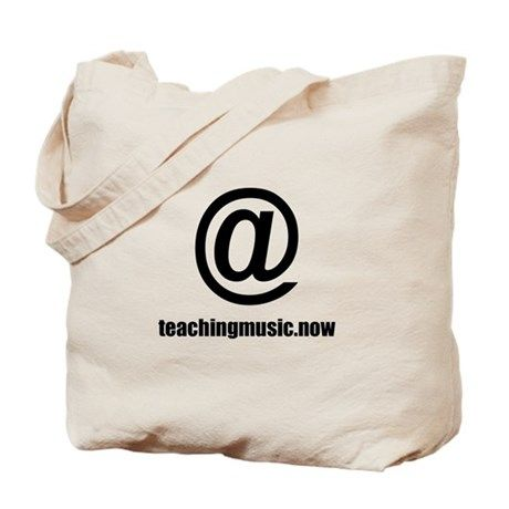 at teaching music dot now Tote Bag on CafePress.com