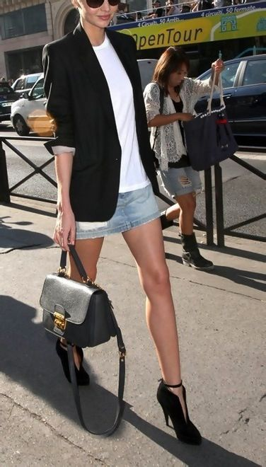 Miranda Kerr.  I think this look is a do. Maybe change up the shoe so I don't break my neck.