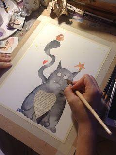 icoloridilaura: Marameo...come nasce un'illustrazione per bambini