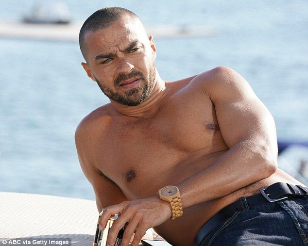 Sun's out, guns out: Grey's Anatomy's Jesse Williams, 36, posed shirtless in a newly-relea...
