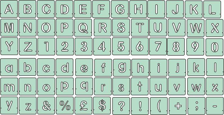 Free Printable Font Stencils