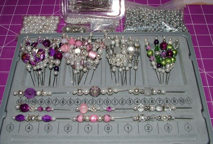 Some of the Stick Pins I made to add to my cards. The pins are fun  easy to make...  10-2013
