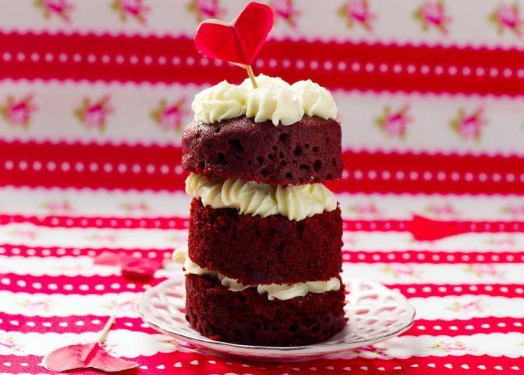 Zamatové valentínske tortičky
