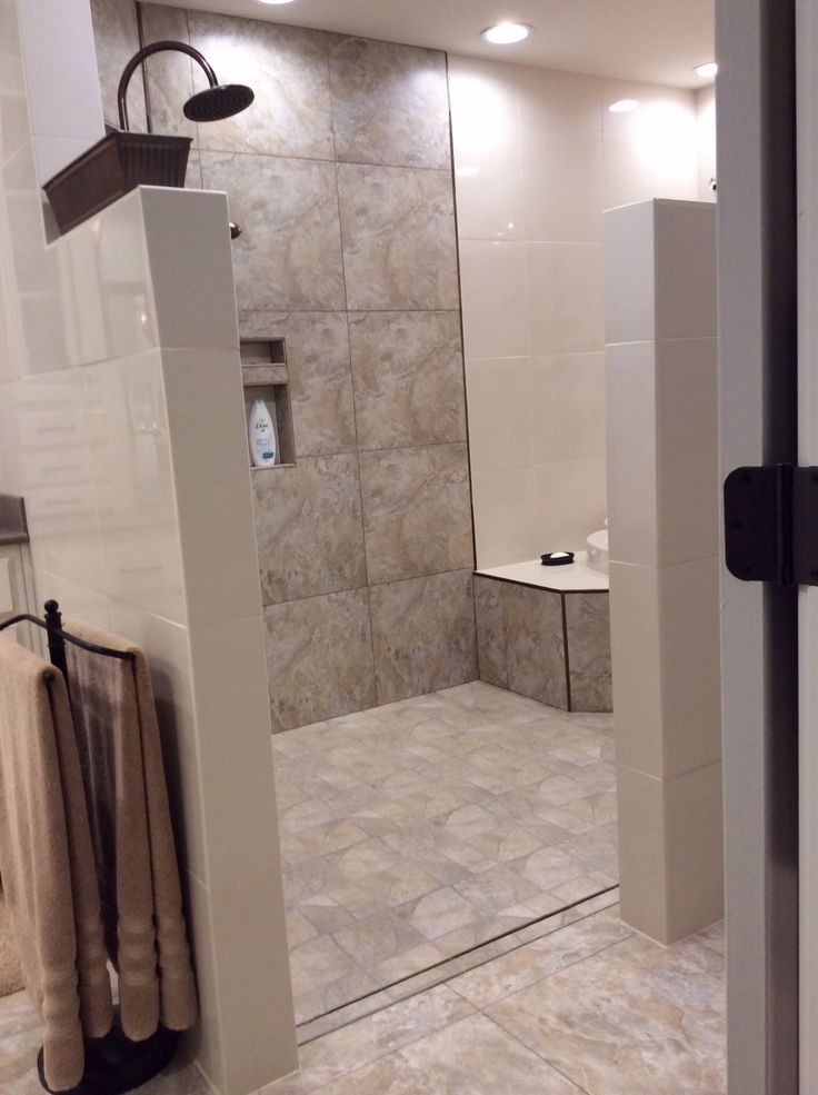 bathroom door ideas walk in shower and tub area no door to clean loving it 10383
