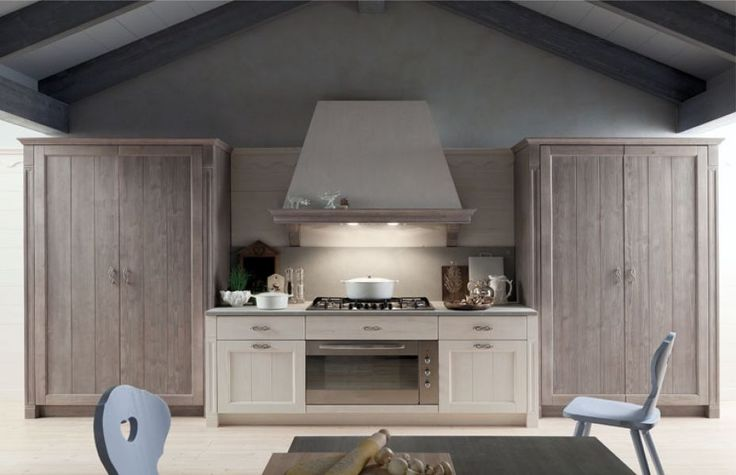cucina lineare con dispense