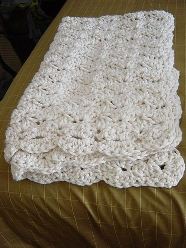 Same pattern that I've put up before, just a different color...Ravelry: Speed Hook Shell Afghan pattern by Lion Brand Yarn