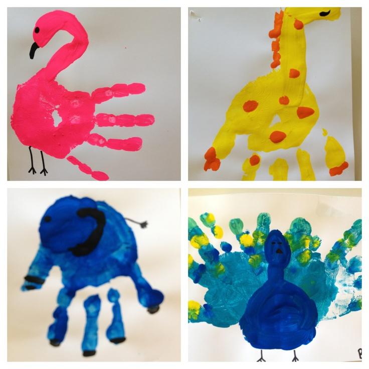 17 best ideas about Hand Print Animals on Pinterest  Foot prints