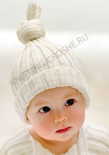 Детская вязаная шапочка для мальчиков