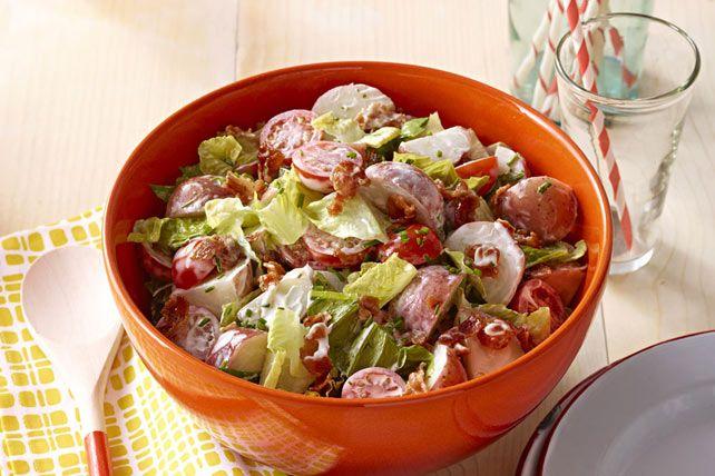 La salade de pommes de terre est un plat estival incontournable. Savourez notre version BLT arrosée de l'onctueuse tartinade MIRACLE WHIP.