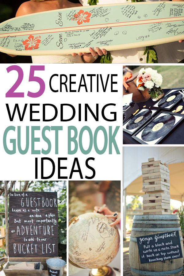 These creative guest books will give you a beautiful memory of your special day!