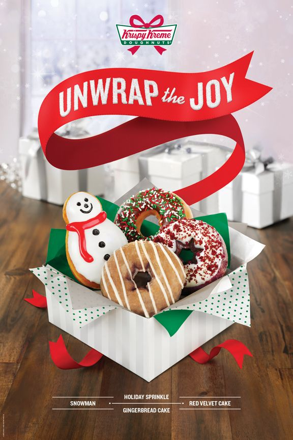 Unwrap the Joy of Krispy Kreme this holiday season. Try our new Gingerbread Cake Doughnut- available in the #US and #Canada