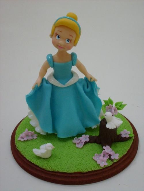 #Disney, Cinderella #clay #cake #toppers by Wilson Cabral