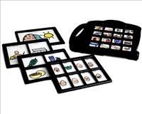 The 7-Level Communication Builder is a self-contained communication device. It allows the user to record and play back 1, 2, 4, 8, or 16 different messages per level.