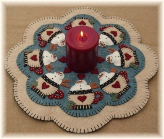 Santa's Cocoa Snowman penny rug candle mat pdf by Kathy Hecker of pennylaneprimsPattern, Pennies Rugs Candles, Rugs Candles Mats, Cocoa Snowman, Handmade Usa, Etsy Lists, Awesome Etsy, Kathy'S Holiday, Lane