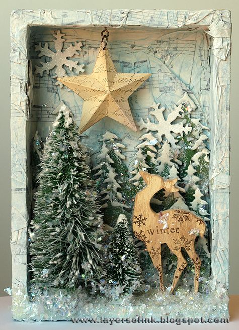 A very beautiful shadowbox for the Christmas holidays!!!