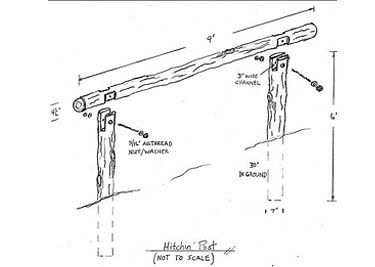Hitching post instructions. Somthing every farm, ranch, or homstead needs.