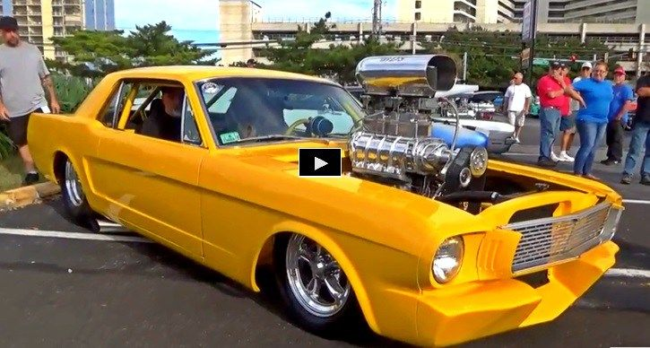 Check out one of the hottest custom built classic Mustangs on the planet flexing muscle at a local car show.