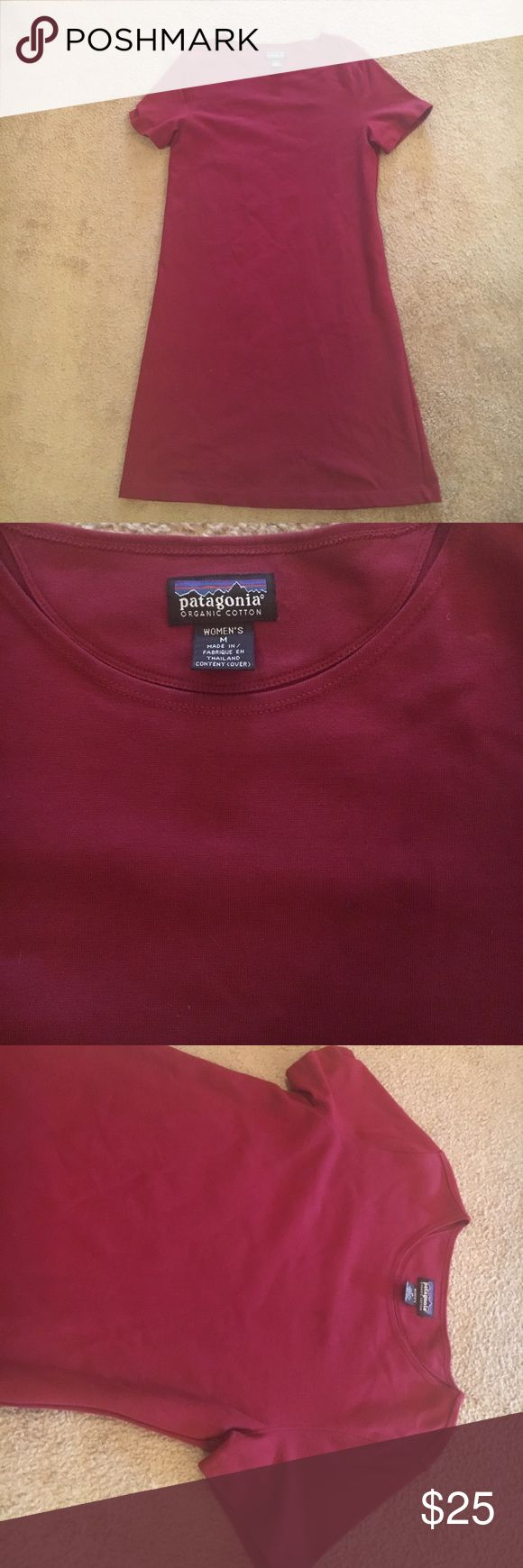 Patagonia dress Patagonia women's dress. Size medium. Excellent condition. Inseam is 38 inches from shoulder to thigh. Color is deep red. Material is 95% cotton 5% spandex. Patagonia Dresses Mini