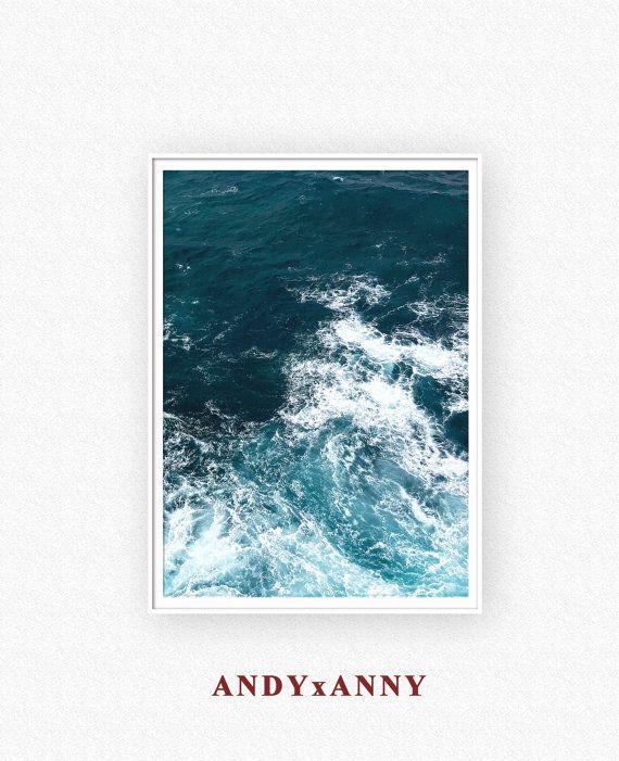 Ocean Print, Ocean wall art, Ocean Printable, Ocean Art, Ocean Waves Art, Ocean Photography, Water Waves Printable, Ocean Waves, Ocean Water