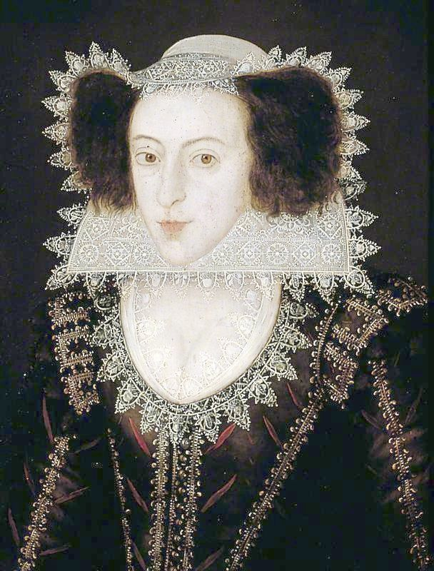 1605-1615 Lady Frances Fairfax by Marcus Gheeraerts the Younger (York Art Gallery - York UKFRANCES SHEFFIELD(1586-1645)  -- awesome coif & ruff!