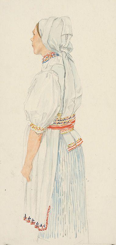 Emil Orlík - Štúdia Slovenky / Study of a Slovak girl (1910–1920)