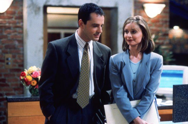 Gil Bellows & Calista Flockhart in Ally McBeal.