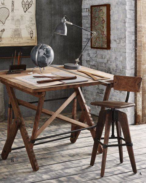 Drafting Table & Stool