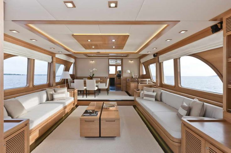 Home DesignLuxury Yacht Interior Design With Elegant Wood Table Luxury
