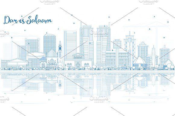 #Outline #Dar #Es #Salaam #Tanzania #City by Igor Sorokin on @creativemarket