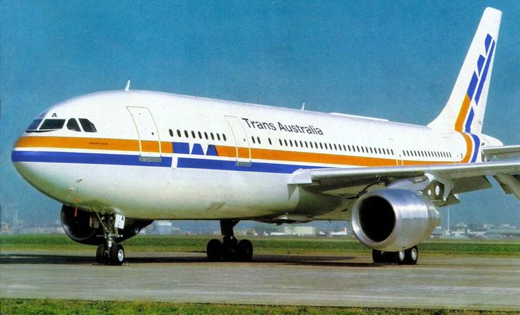 """Trans Australia Airlines - TAA Airbus A300B4-203 VH-TAA """"James Cook"""" in a promotional image, circa 1982. (Photo: Trans Australia Airlines)"""
