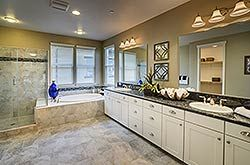 Gorgeous Master Bath in the Savannah plan at East Garrison. Part of the Heritage Collection. Come see these exceptional Monterey County new homes.
