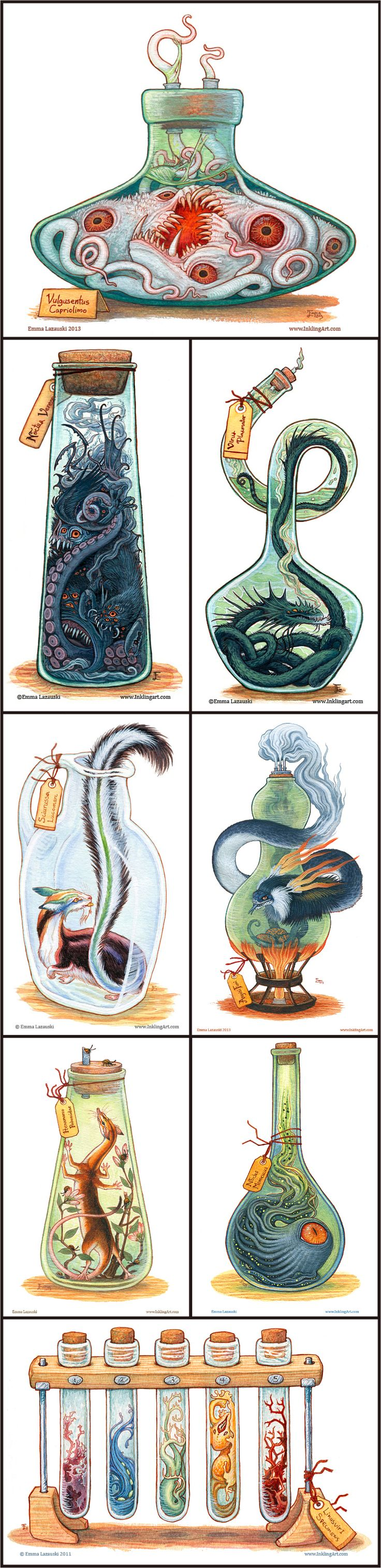 Bottled Creatures by Emma Lazauski