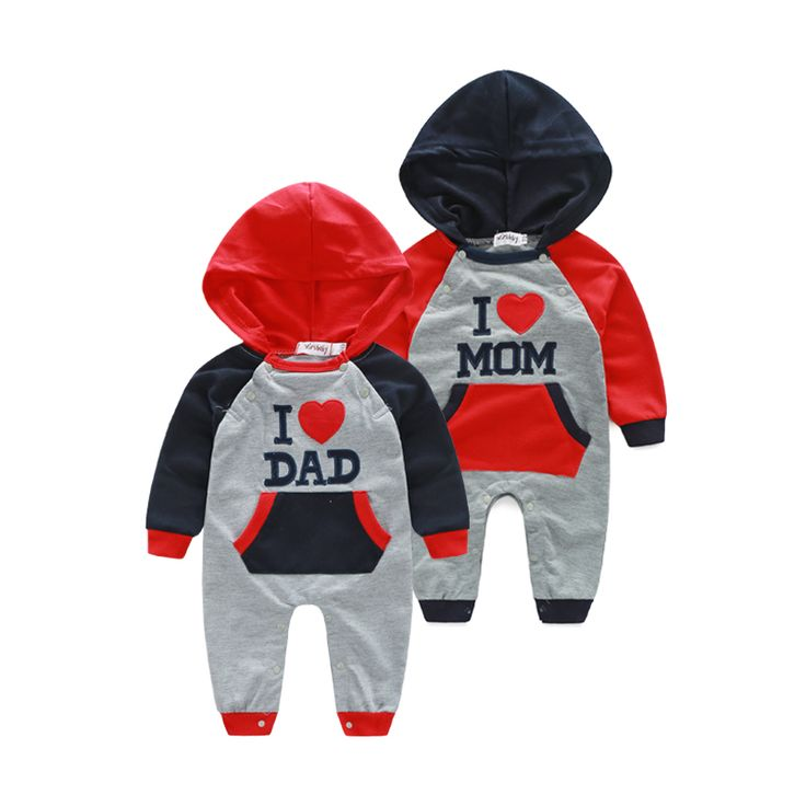 new style mummy daddy baby clothes cute baby costume hoodies newborn baby rompers