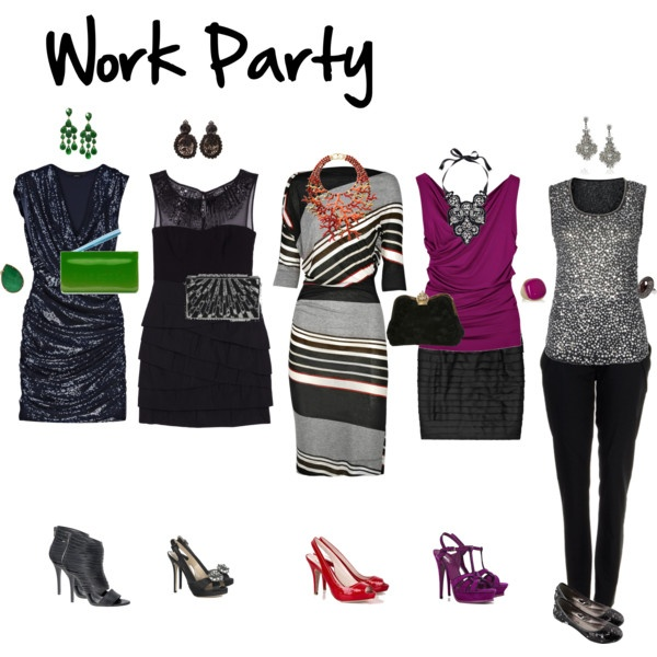 Ideas For A Work Christmas Party: Work Party, Polyvore And Body Shapes