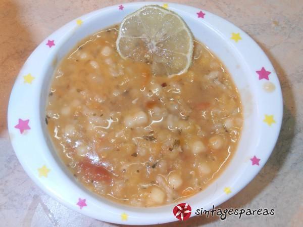 Κόκκινες φακές σούπα, με δυόσμο, ρύζι και πλιγούρι #sintagespareas