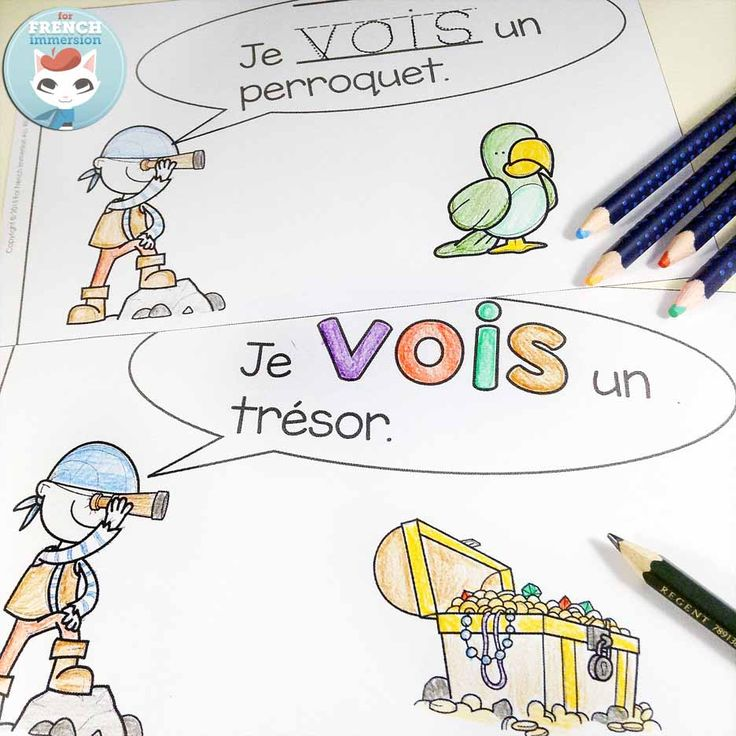 French emergent reader: je VOIS. Reading, writing, cutting and pasting to practice French sight words and improve reading skills.