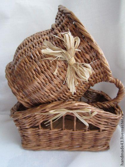 """Набор для кухни """"Деревенский"""" - бумага,состаренный стиль,старинный,состаренная бумага"""