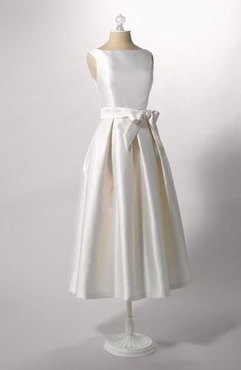 Perfect for a garden wedding   Faille Satin Fit & Flare Dress